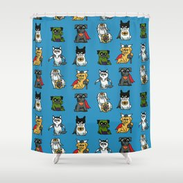 Superhero Puppies Shower Curtain