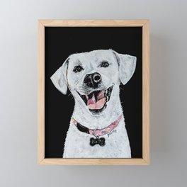 Smiling Dog Framed Mini Art Print