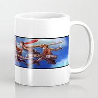 cartoons Mugs featuring Shingeki no Cartoons by Witchy