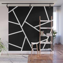 Black and White Fragments - Geometric Design II Wall Mural