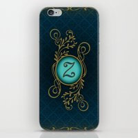 monogram iPhone & iPod Skins featuring Monogram Z by Britta Glodde