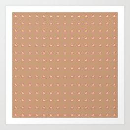 Neon Triangles - Multi Art Print