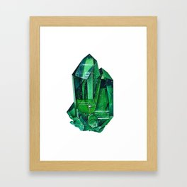Emerald Mineral Dream Framed Art Print