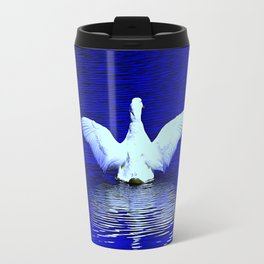 White Goose Wingspan (Chicago North Pond Collection) Travel Mug