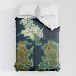 Final Fantasy VII - Shinra Airways World Map Comforters