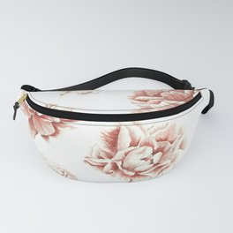 Rose Garden Vintage Rose Pink Cream and White Fanny Pack