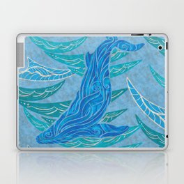 Watercolor Whale Dive Laptop & iPad Skin