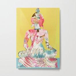 Just Breathe Buddha Metal Print