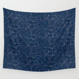 Public Transport Network Wall Tapestry