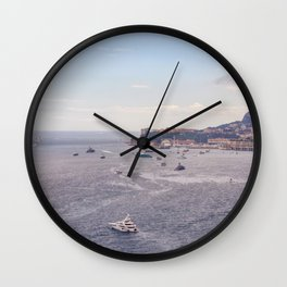 Seacoast in front of Monaco in French Riviera in summer Wall Clock