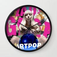 artpop Wall Clocks featuring Artpop by Callmepains