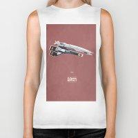 mass effect Biker Tanks featuring Mass Effect by Simon Alenius