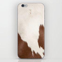 Brown Cowhide v4 iPhone Skin