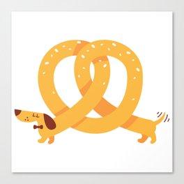 Pretzel Dog Canvas Print