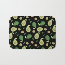 Avocado gen z fashion apparel food fight gifts black Bath Mat