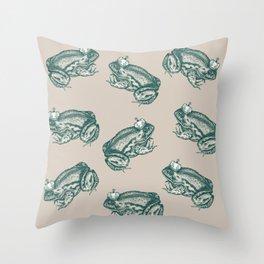 Toad King Throw Pillow