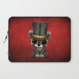 Steampunk Baby Raccoon Laptop Sleeve
