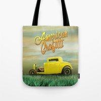 grafitti Tote Bags featuring American Grafitti by Tony Vazquez