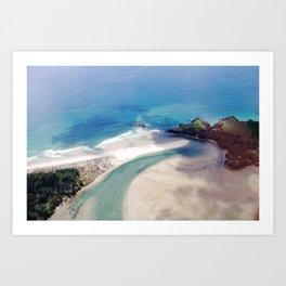 Beach from above Art Print