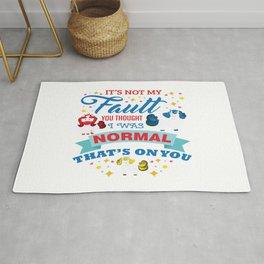 Magical Unicorn Autism Awareness Day Autistic Gift Rug