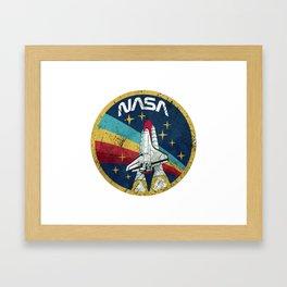 Nasa Vintage Colors Framed Art Print