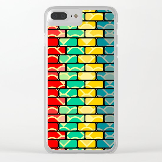Colorful bricks Clear iPhone Case