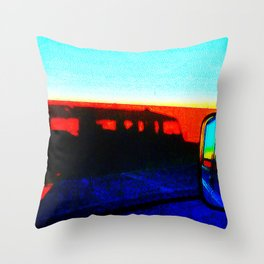 Landrover in shadow Throw Pillow