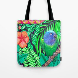 Parrot in the Amazon Tote Bag