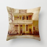 general Throw Pillows featuring General Store by Dorothy Pinder