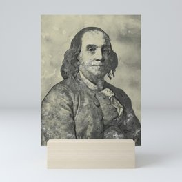 Benjamin Franklin Vintage Watercolor Art Mini Art Print