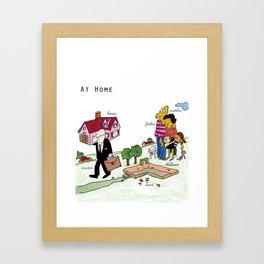 At home Framed Art Print