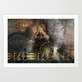 Cover You with His Feathers Art Print