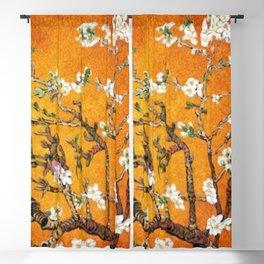 Vincent van Gogh Blossoming Almond Tree (Almond Blossoms) Orange Sky Blackout Curtain