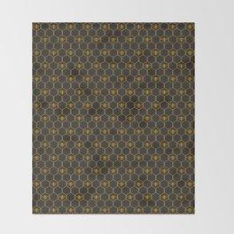 Hexabees Throw Blanket