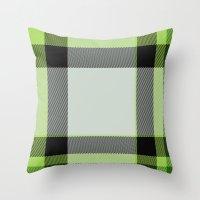 green pattern Throw Pillows featuring Pattern Green by Fine2art
