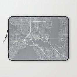 Indianapolis Map, Indiana USA - Pewter Laptop Sleeve