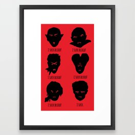 Bloody Truth Framed Art Print