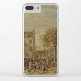 David Teniers the Younger ANTWERP 1610 - 1690 BRUSSELS A KERMESSE WITH VILLAGERS MAKING MERRY IN A T Clear iPhone Case