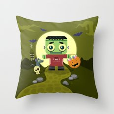 Frankie goes to Halloween Throw Pillow