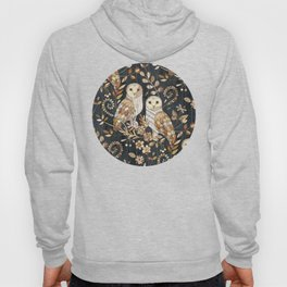 Wooden Wonderland Barn Owl Collage Hoody