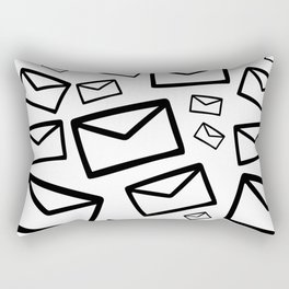 Black&white envelopes everywhere Rectangular Pillow