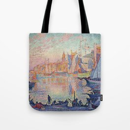 Paul Signac - The Port Of Saint Tropez Tote Bag