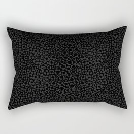 Subtle Black Panther Leopard Print Rectangular Pillow