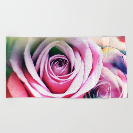 Romantic roses(7). Beach Towel