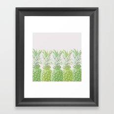 Pineapple Greenery Framed Art Print