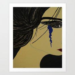 A Single Tear Art Print