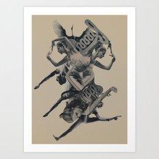 Unwind/Rewind Art Print