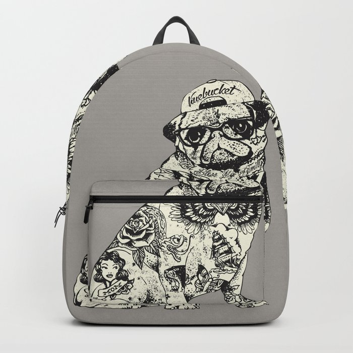 Pug Tattoo Backpack