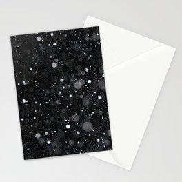 Snow Sky Black White Stationery Cards