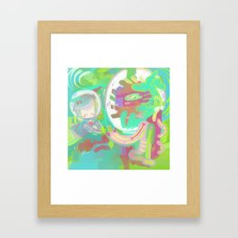 Space Stop Framed Art Print